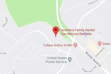 Carothers Family Dental on a map preview. Click or Tap to open in Google Maps